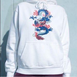 NWOT Brandy Melville dragon graphic hoodie sweatsh